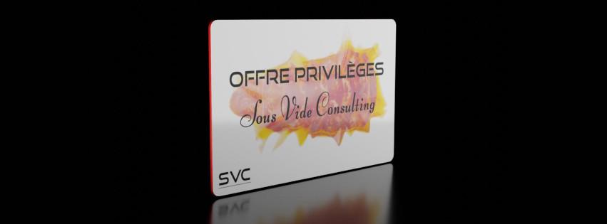 Offre Privilèges - Partenariat Sous Vide Consulting