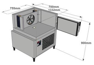 Cellule refroidissement rapide ACFRI RS 20/RL dimensions