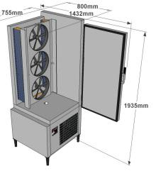 Cellule de refroidissement ACFRI RS 75/RL dimensions