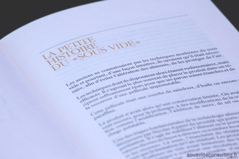 Georges Pralus Livre La Cuisine Sous Vide, La Petite Histoire du Sous Vide