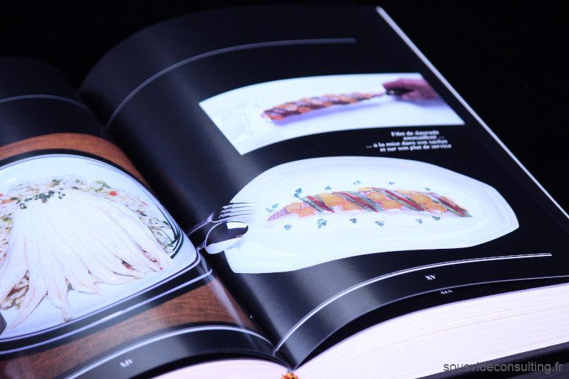 Georges Pralus Livre La Cuisine Sous Vide, Page du livre avec photos recettes