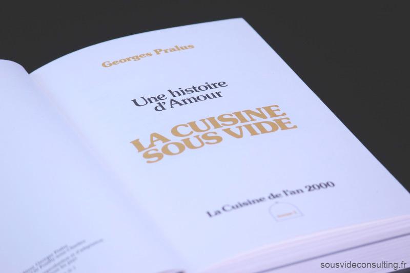 Georges Pralus Livre La Cuisine Sous Vide, Page de garde