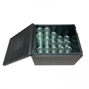 Boite isotherme Thermo Future Box de 48 litres parfaitement adaptée pour contenir 60 bocaux en verre WECK DROIT 290 mm (88 haut).