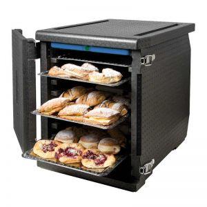 Thermobox Conteneur isotherme 128 Litres pour plaques et plateaux 60x40: vue ouvert