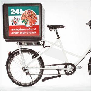 Caisse de transport pour scooter ou vélo. 100 Litres en polypropylène expansé très isolant. Très léger 4,6 kg et bien plus résistant que les boites de transport pizza en plastique.